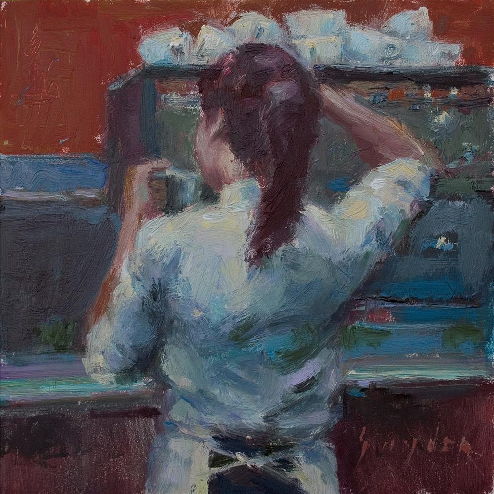 """""""Barista"""" original fine art by Julie Snyder"""