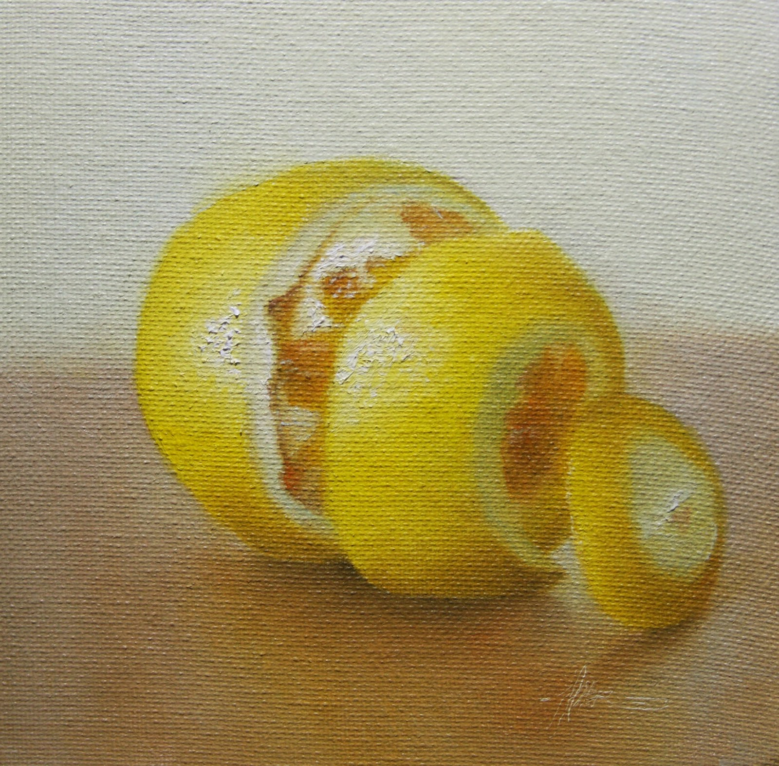 """Lemon Peeled"" original fine art by Jonathan Aller"