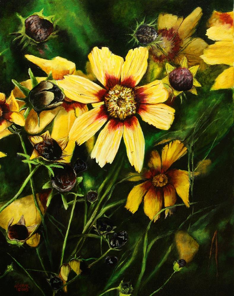 """Redshift Coreopsis"" original fine art by Aaron Grabiak"