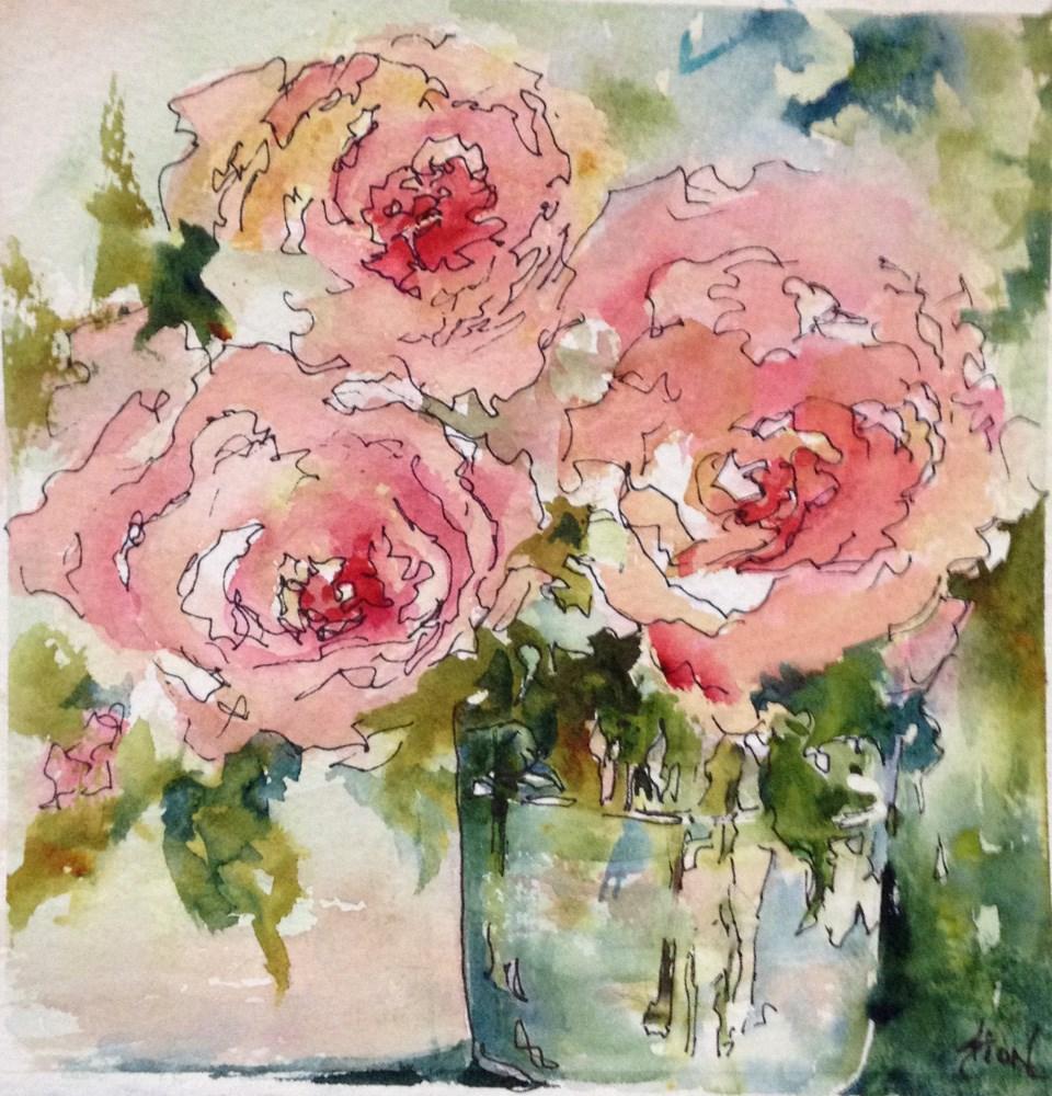 """A Summer Dalliance"" original fine art by Sue Dion"