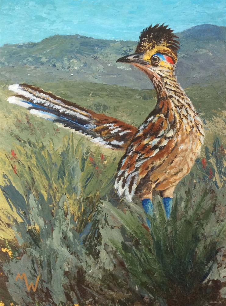 """Tubac Roadrunner"" original fine art by Michelle Wolfe"