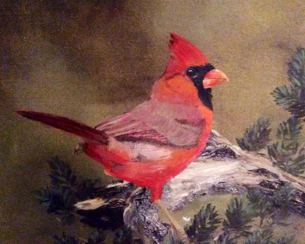 """Bird in the Bush"" original fine art by Charlotte Lough"