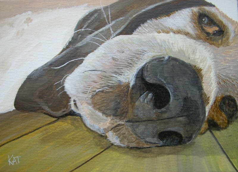 """Lazy Days"" original fine art by Kathleen Carrier"