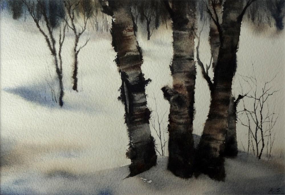 """Winter Woods II"" original fine art by Arena Shawn"