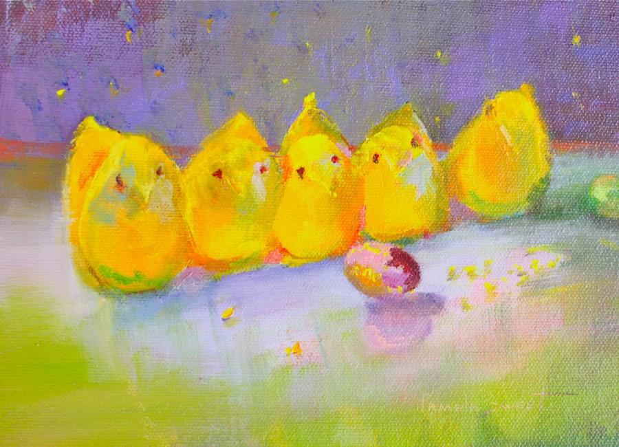 """""""Not a Peep!"""" original fine art by Pamela Sweet"""