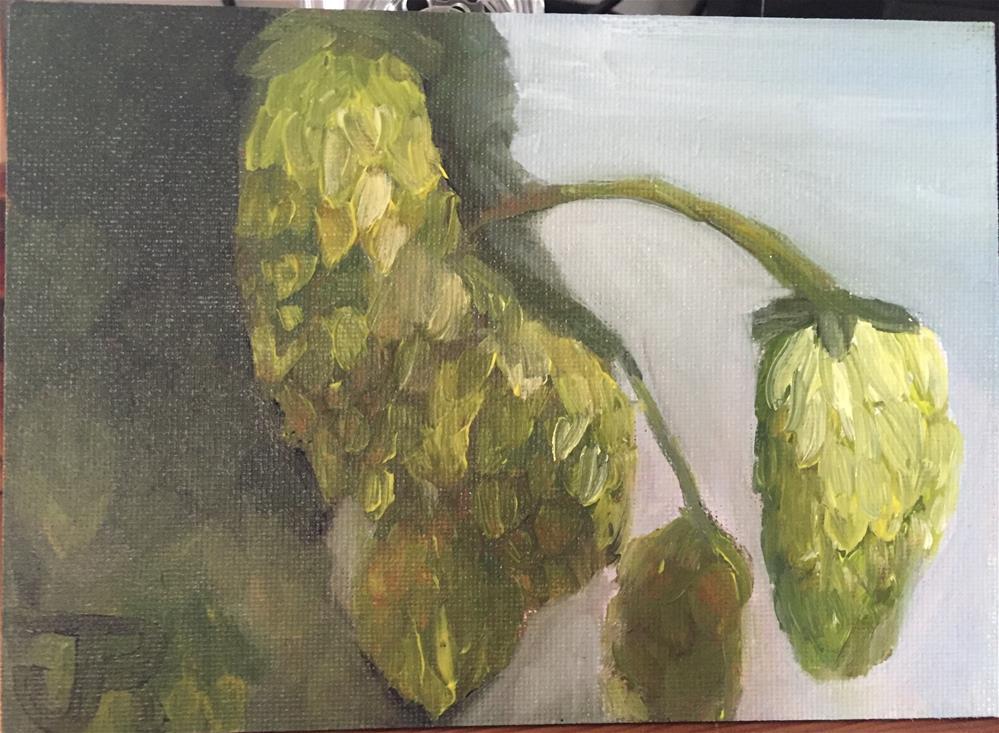 """""""Hops"""" original fine art by Julie Ratcliff"""