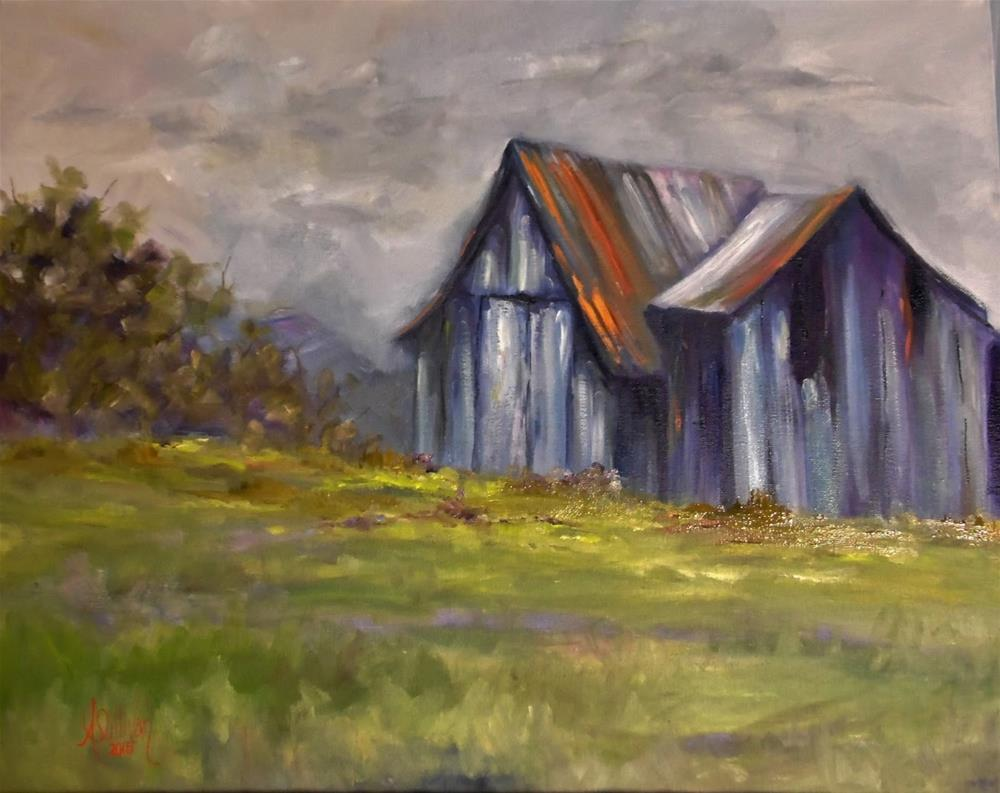 """Left Over barn painting by Alabama Artist Angela Sullivan"" original fine art by Angela Sullivan"