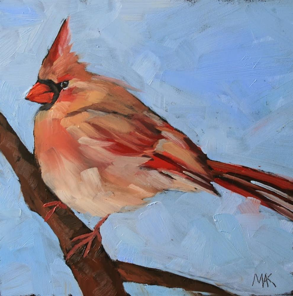 """""""Waiting for Spring"""" original fine art by Mary Anne Cary"""
