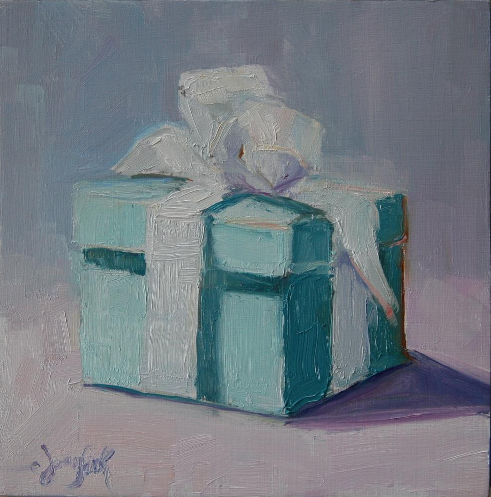 """Blue Box"" original fine art by Carol Josefiak"