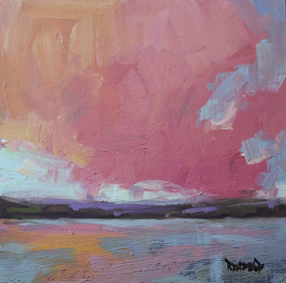 """Big Pink Cloud"" original fine art by Cathleen Rehfeld"