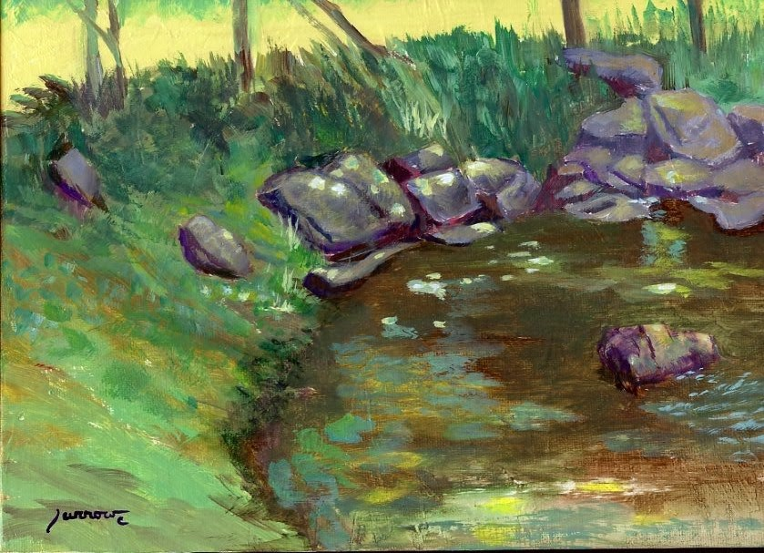 """Garst Mill Creek No. One"" original fine art by Sue Furrow"