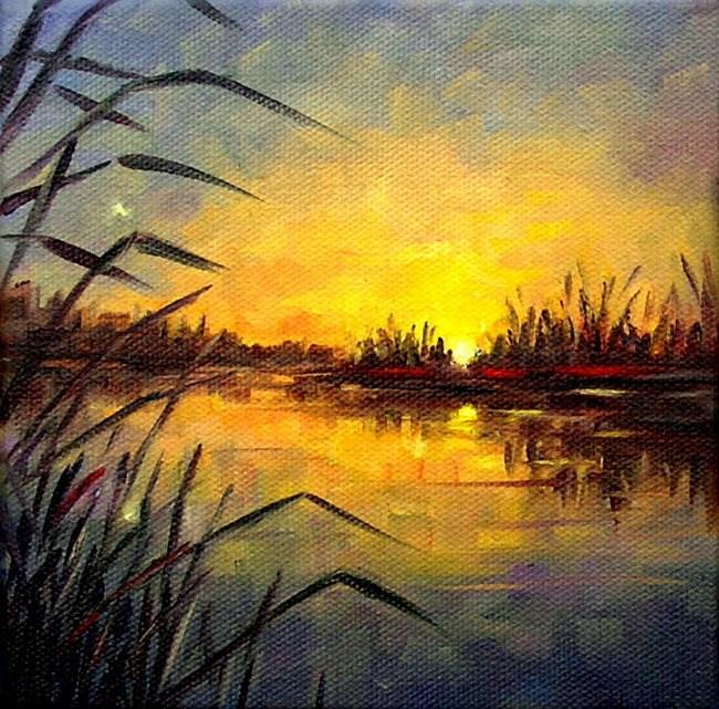 """""""Quiet Evening"""" original fine art by Irina Beskina"""