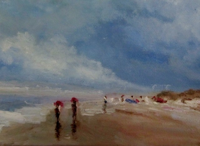 """Along the beach"" original fine art by Astrid Buchhammer"