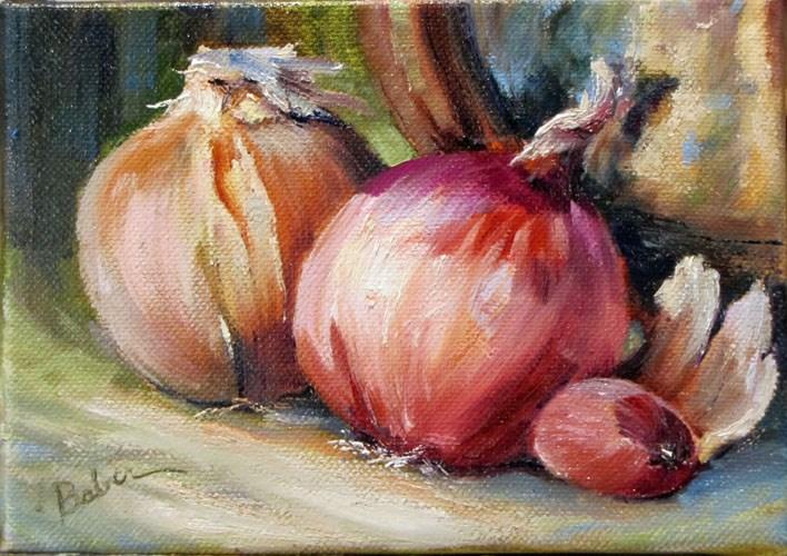 """Onions"" original fine art by gabriele baber"