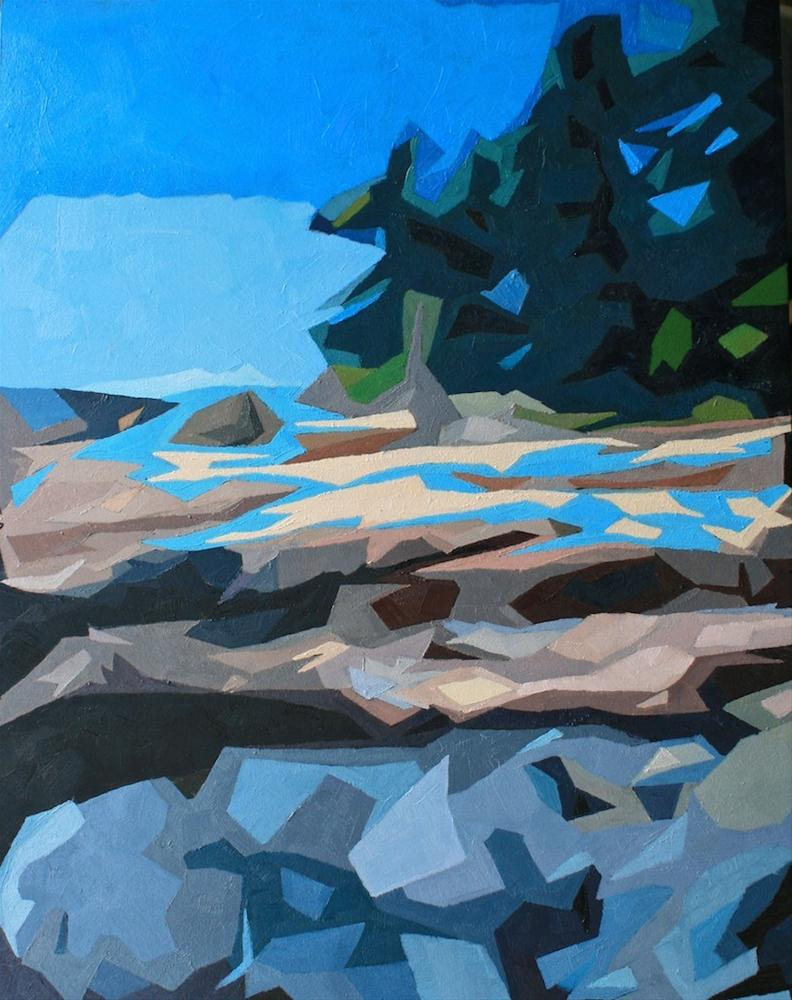 """Rocky Coast Deconstructed"" original fine art by Mary Anne Cary"