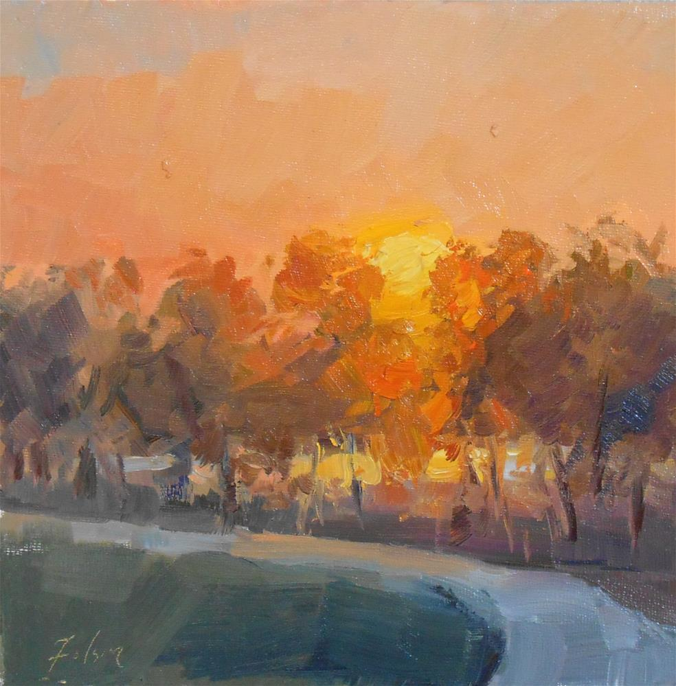 """Burning Light"" original fine art by Kelli Folsom"