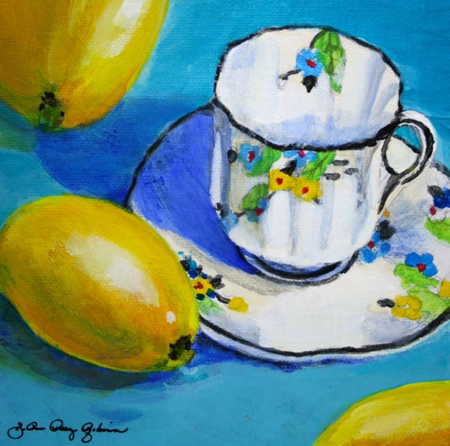 """Tea with Lemon"" original fine art by JoAnne Perez Robinson"