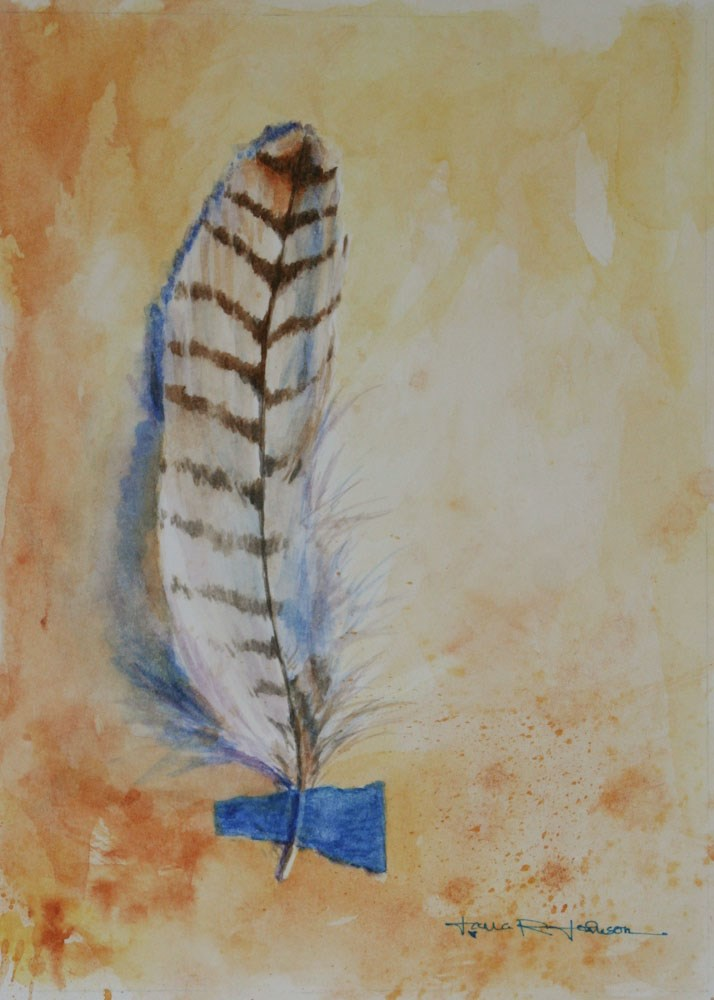 """Feather 4"" original fine art by Jana Johnson"