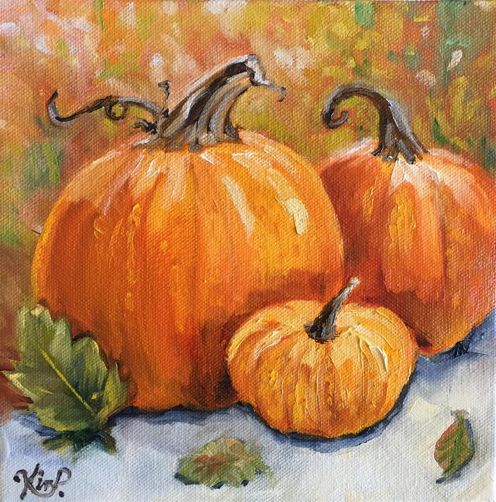 """Pumpkins"" original fine art by Kim Peterson"