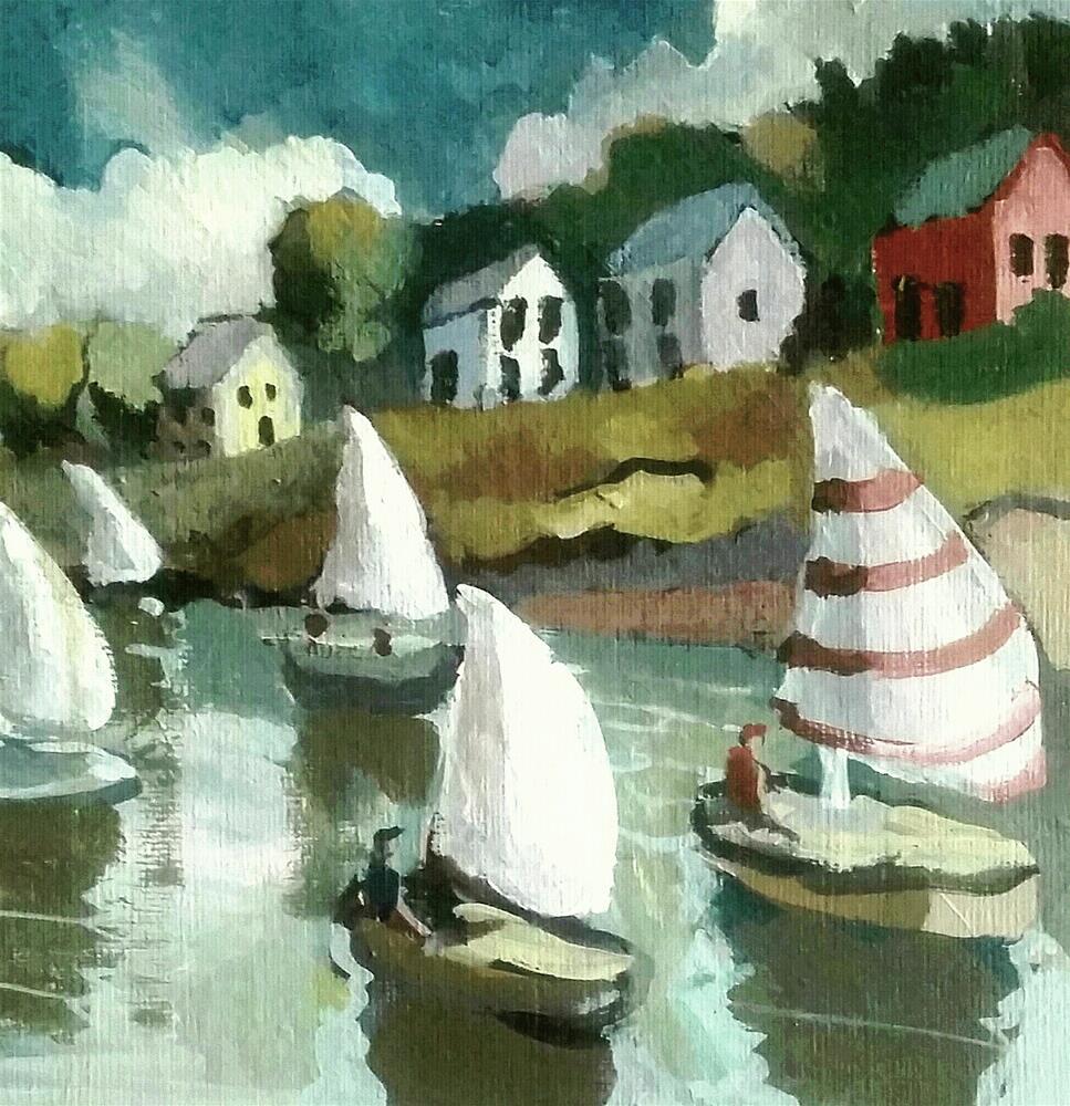"""Midsummer Sail- Chester Nova Scotia"" original fine art by Liz Maynes"
