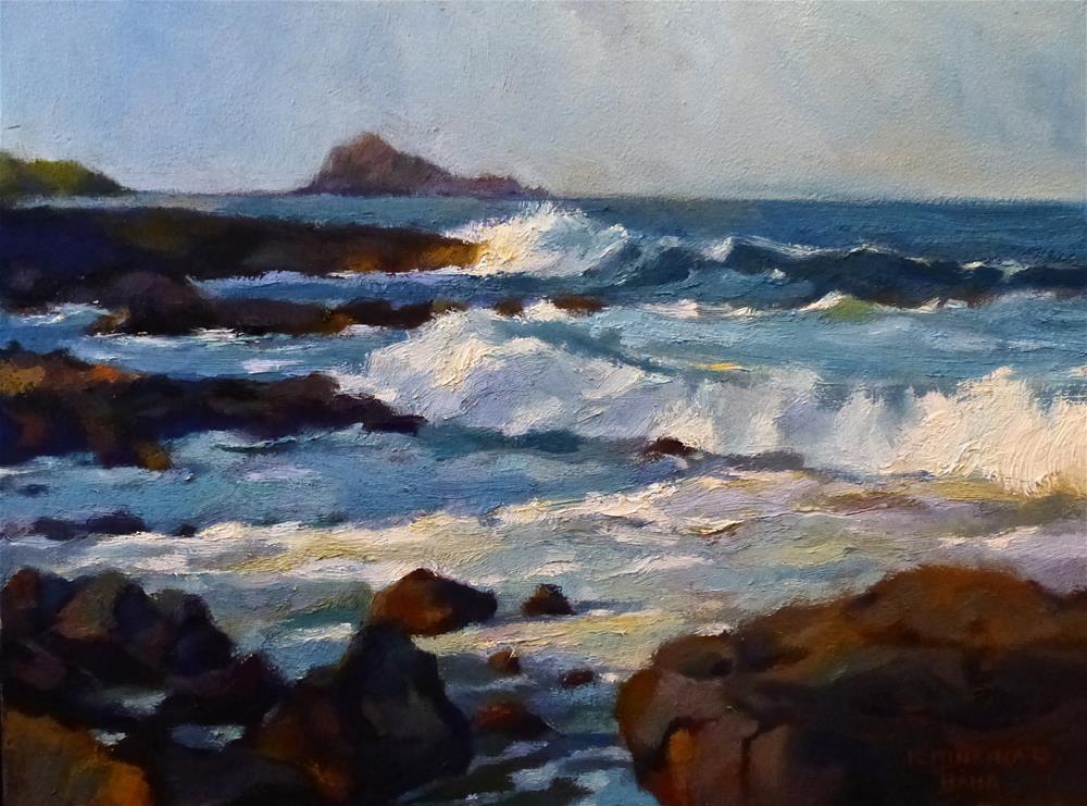 """Hana Coast at Maka'alae"" original fine art by Katya Minkina"