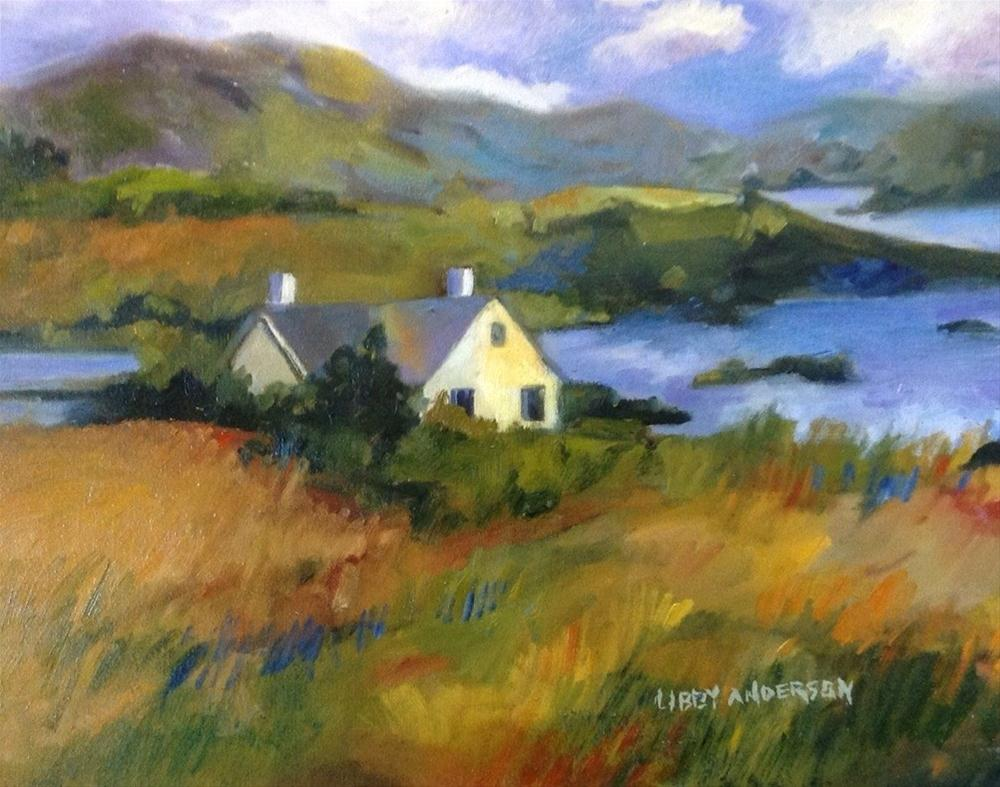 """Island House"" original fine art by Libby Anderson"
