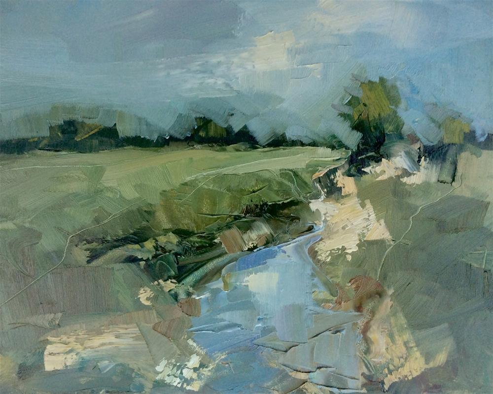 """Water Meadows"" original fine art by Anne Wood"