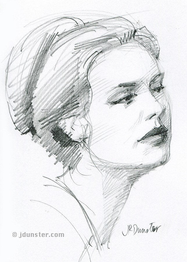 """Emma sketch"" original fine art by J. Dunster"