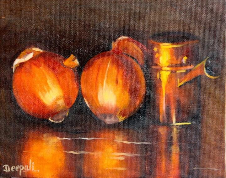 """Onions"" original fine art by Dipali Rabadiya"