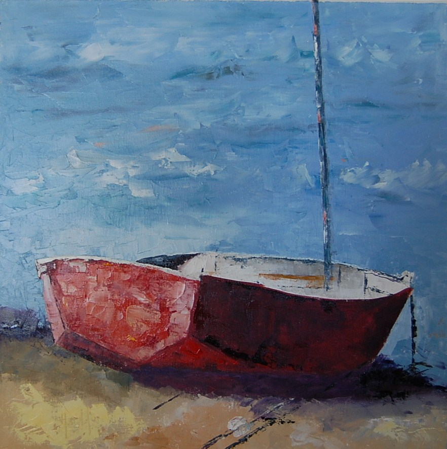"""On The Edge"" original fine art by Deborah Harold"