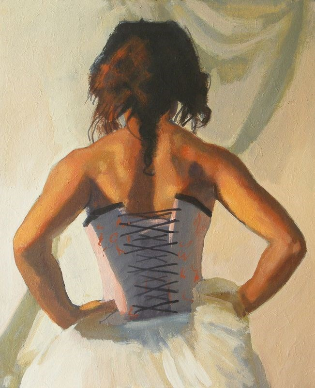 """Back view"" original fine art by Peter Orrock"