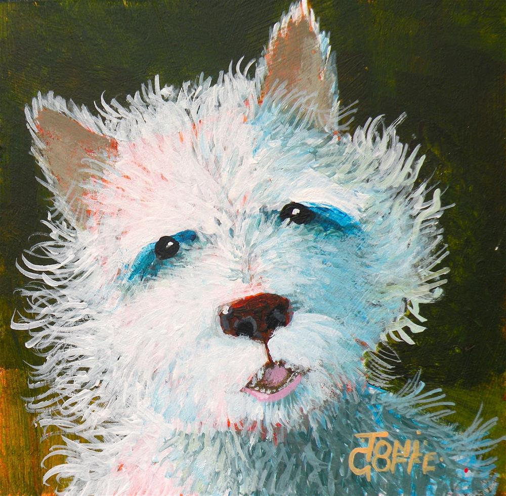 """Scotty"" original fine art by Toni Goffe"