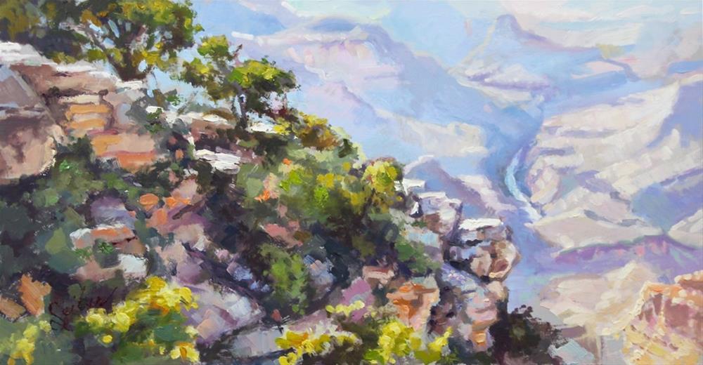 """""""Canyon Rim"""" original fine art by Larry Seiler"""