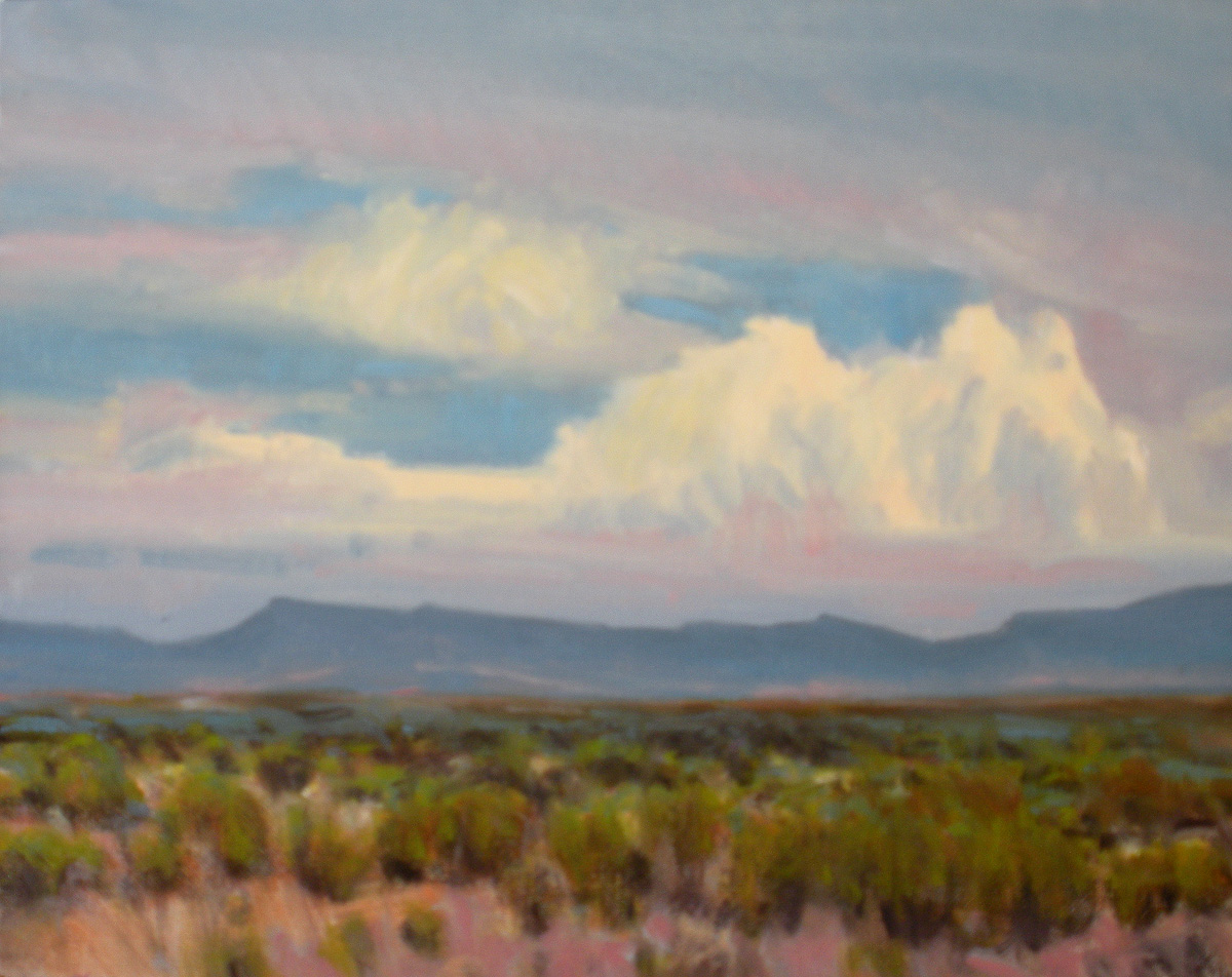 """Afternoon Clouds over the Glass Mountains"" original fine art by David Forks"