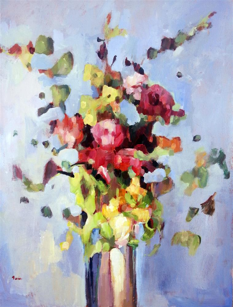 """Bright and Bold Bouquet"" original fine art by Nava Judith"