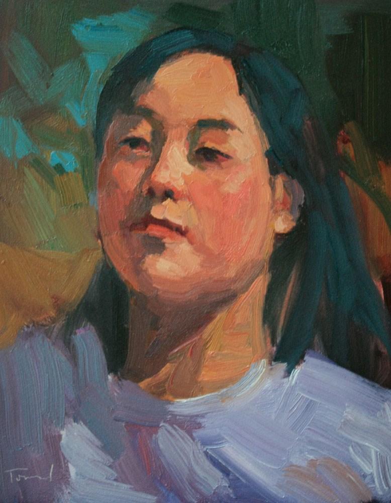 """Portrait Study #21"" original fine art by Kathryn Townsend"