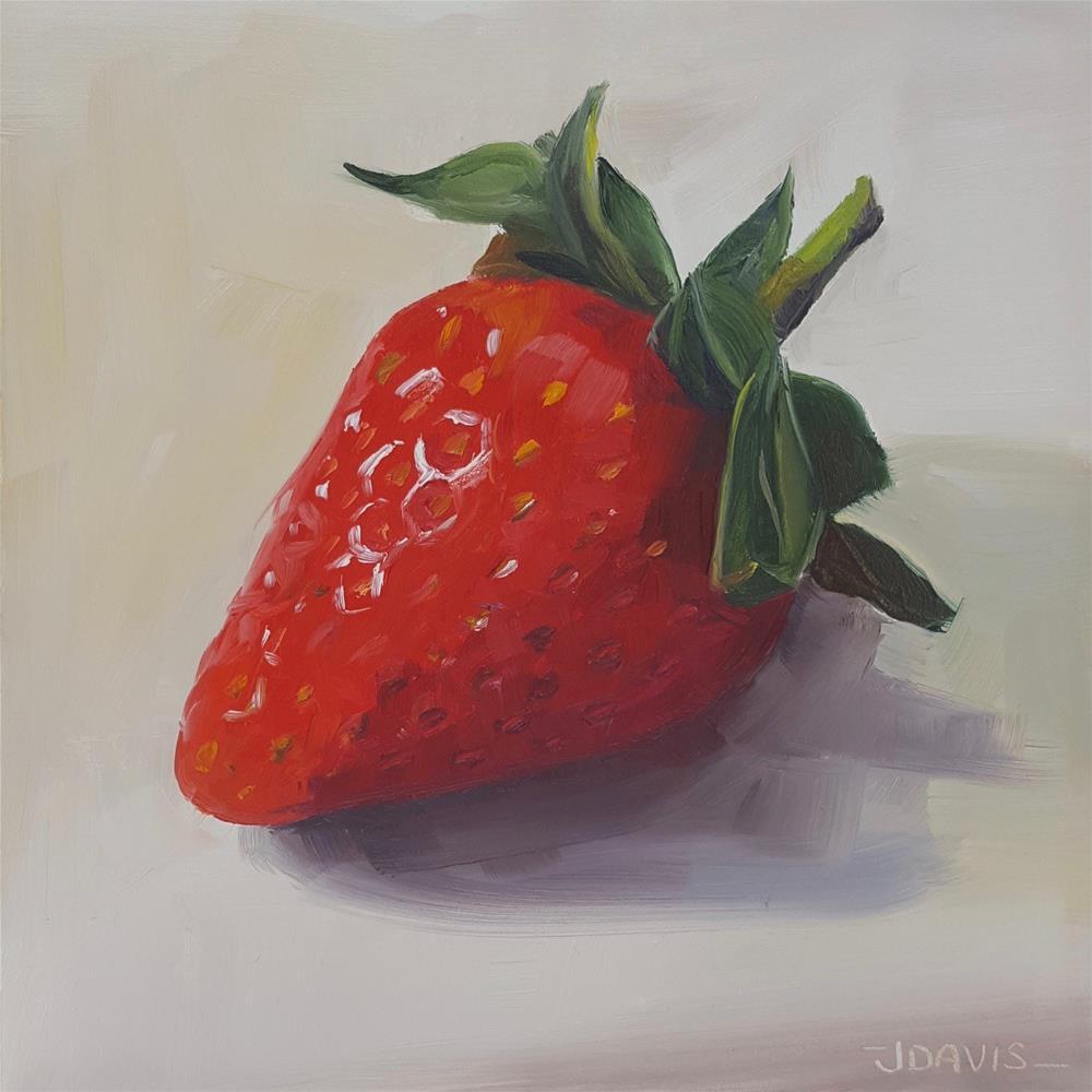 """Strawberry Love"" original fine art by Jacqueline Davis"