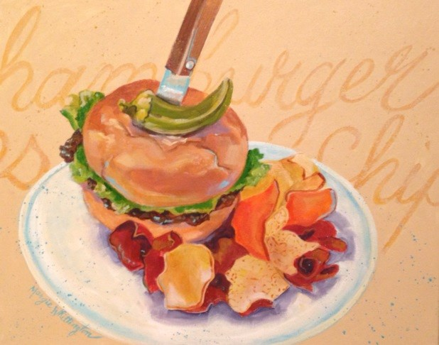 """Lunch"" original fine art by Margie Whittington"