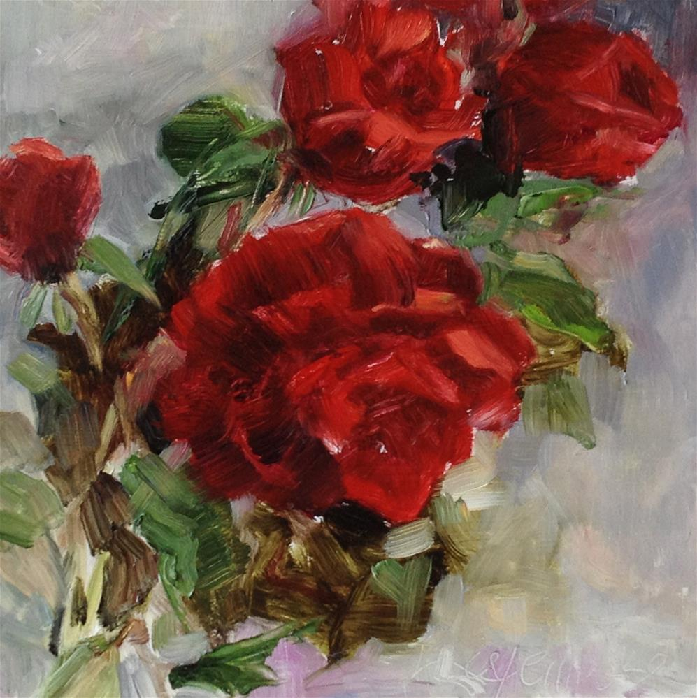 """Red rose"" original fine art by Nancy Lajeunesse"