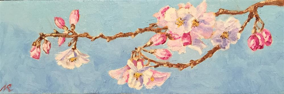 """Cherry blossoms"" original fine art by Natasha Ramras"