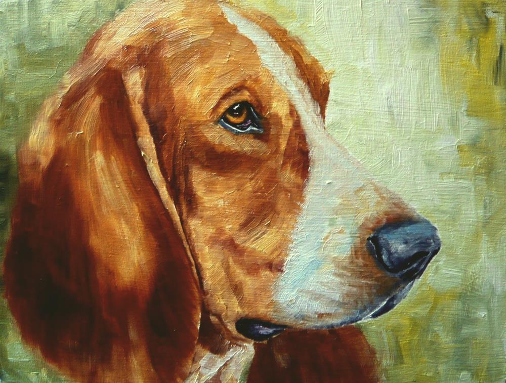 """""""Basset Hound"""" original fine art by Karen Robinson"""