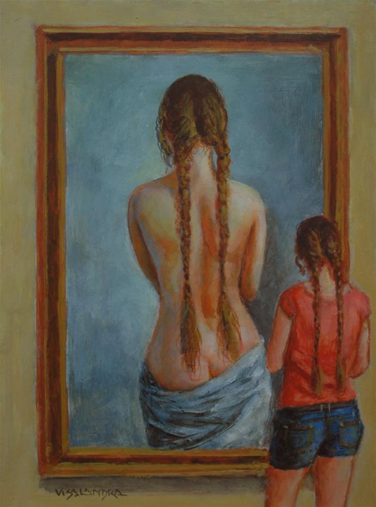 """museum visitor 21"" original fine art by vishalandra dakur"