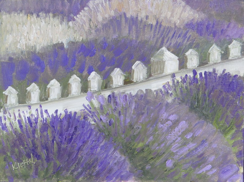 """On the Fence"" original fine art by Richard Kiehn"