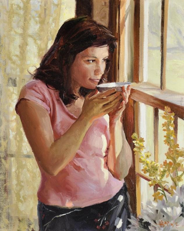 """Morning Tea"" original fine art by Scott Harding"