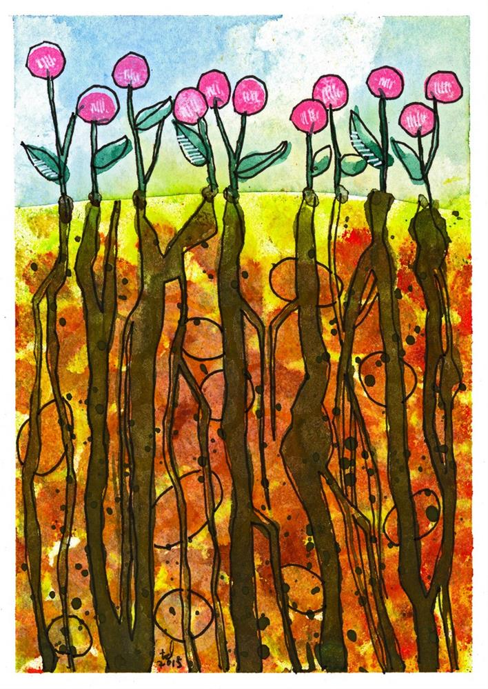 """Rooted - Earth"" original fine art by Tonya Doughty"