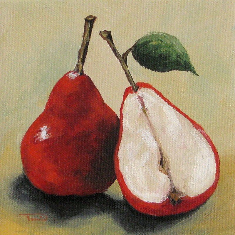 """Red Pears"" original fine art by Torrie Smiley"