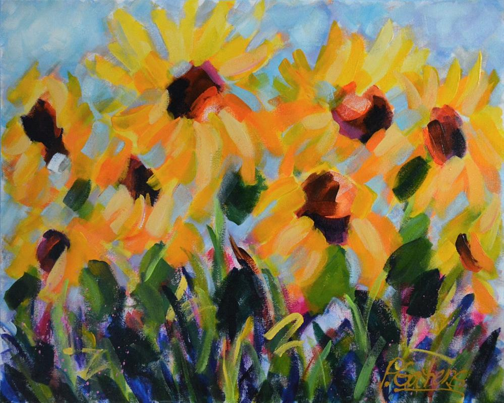 """Sunflower Field"" original fine art by Pamela Gatens"