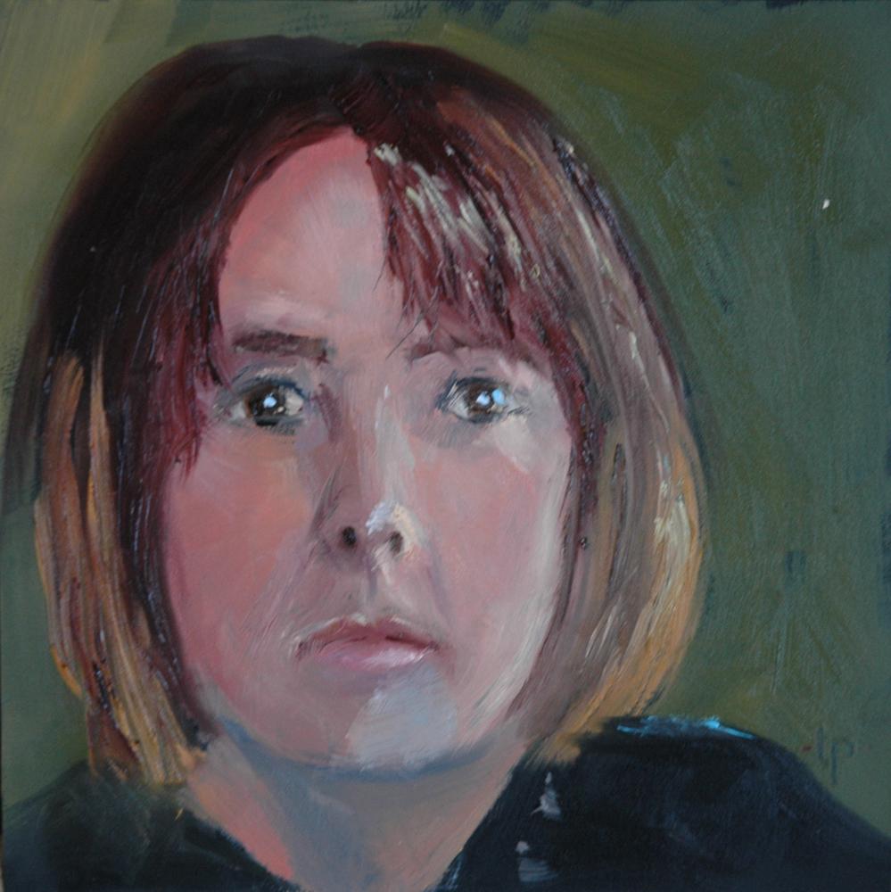 """JULIE"" original fine art by Linda Popple"