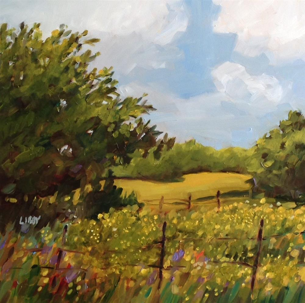 """Field of yellow"" original fine art by Libby Anderson"
