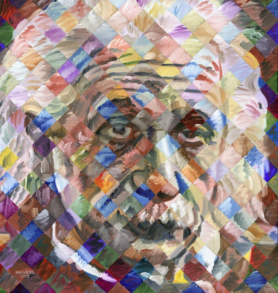 """Albert Einstein"" original fine art by Randal Huiskens"